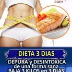 dieta-3-dias-para-bajar-de-peso-saludablemente